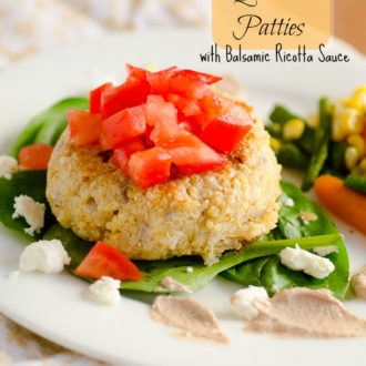 Caprese Quinoa Patties with Balsamic Ricotta Sauce by SeededAtTheTable.com