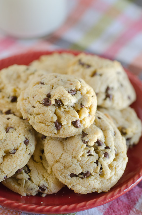 Coconut Oil Chocolate Chip Pudding Cookies-2