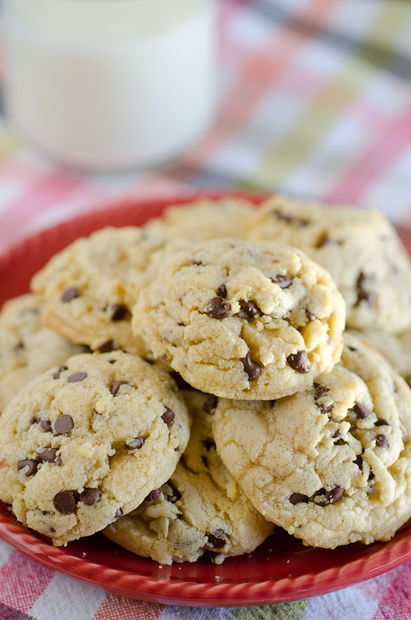 Coconut oil is used instead of butter in these flavorful chocolate chip cookies by SeededAtTheTable.com.