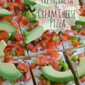 Fresh Salsa & Cream Cheese Pizza by SeededAtTheTable.com