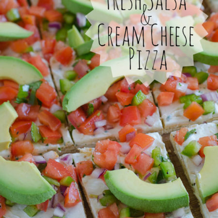 Fresh Salsa & Cream Cheese Pizza by SeededAtTheTable.com