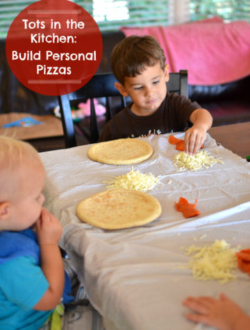 Let your kids build their own personal pizzas by SeededAtTheTable.com