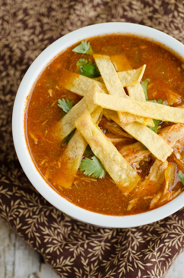 bowl of tortilla soup