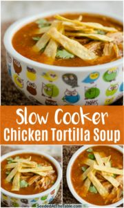pinterest collage of chicken tortilla soup