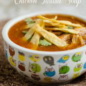 Chicken Tortilla Soup in the slow cooker by SeededAtTheTable.com