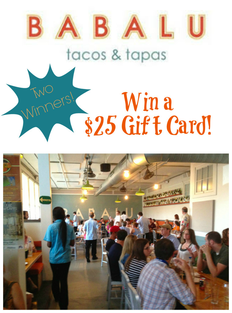 Enter to win one of two $25 gift cards at Babalu Tacos & Tapas in Jackson, MS - SeededAtTheTable.com