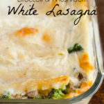 Broccoli and Mushroom White Lasagna