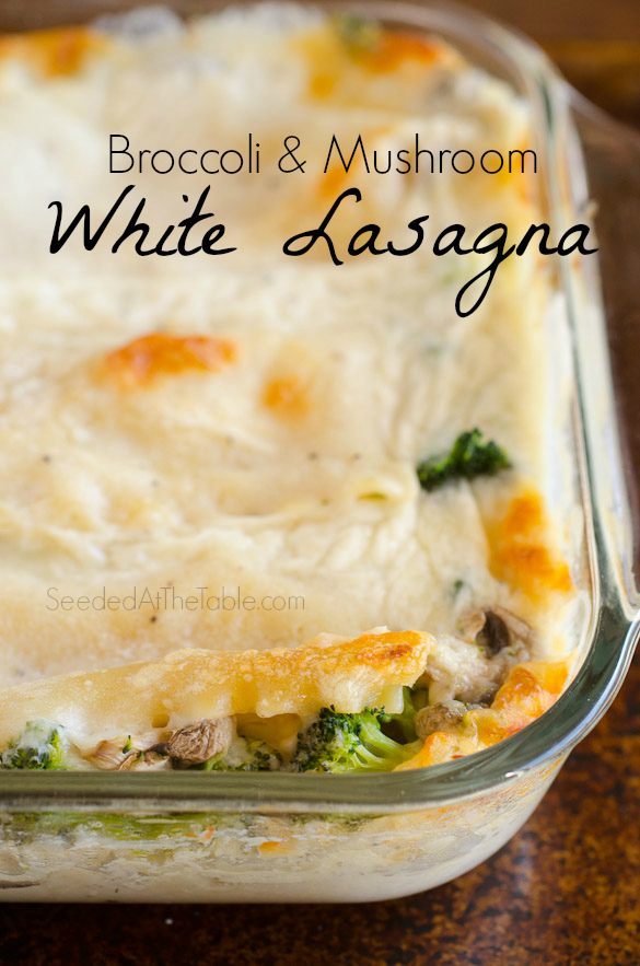 Title photo for Broccoli and Mushroom lasagna.