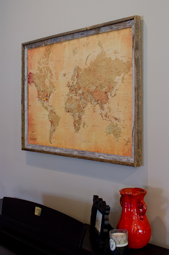 DIY Pinboard Map