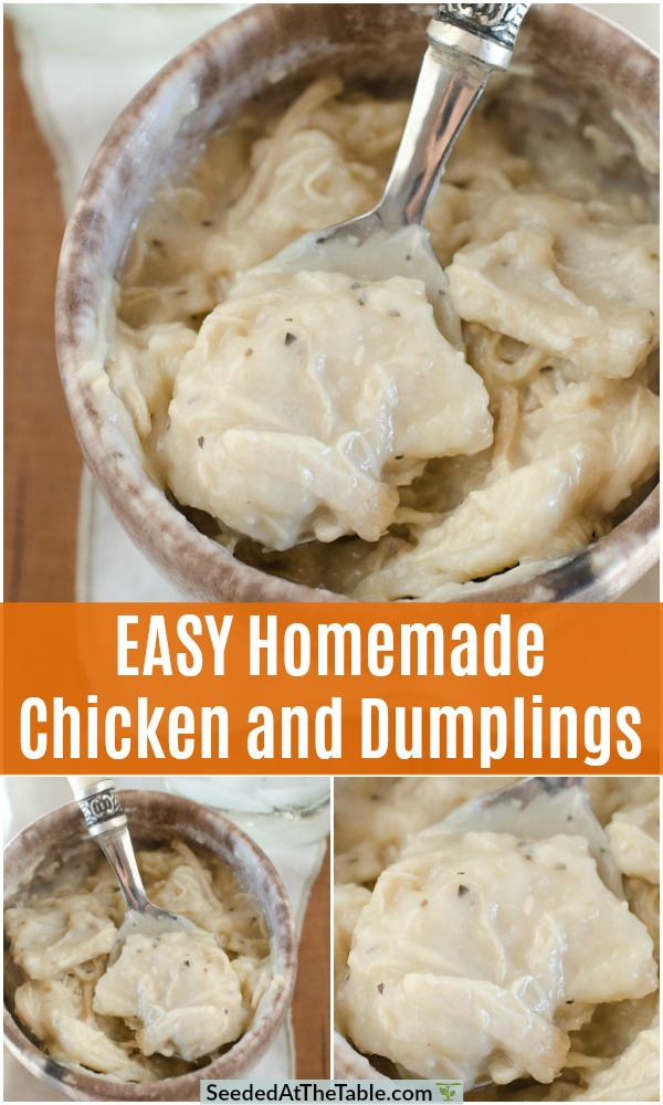 pinterest collage for chicken and dumplings recipe