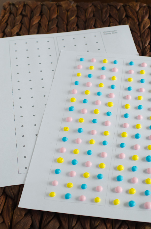 Homemade Candy Dots by SeededAtTheTable.com (Includes print-out template)