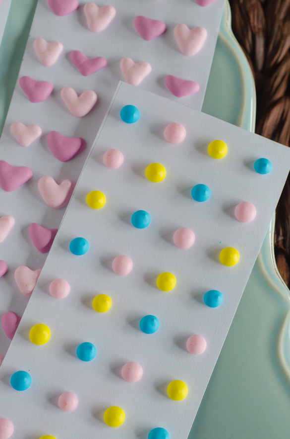 Homemade Candy Dots and Hearts by SeededAtTheTable.com