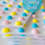 Stack of homemade candy dots