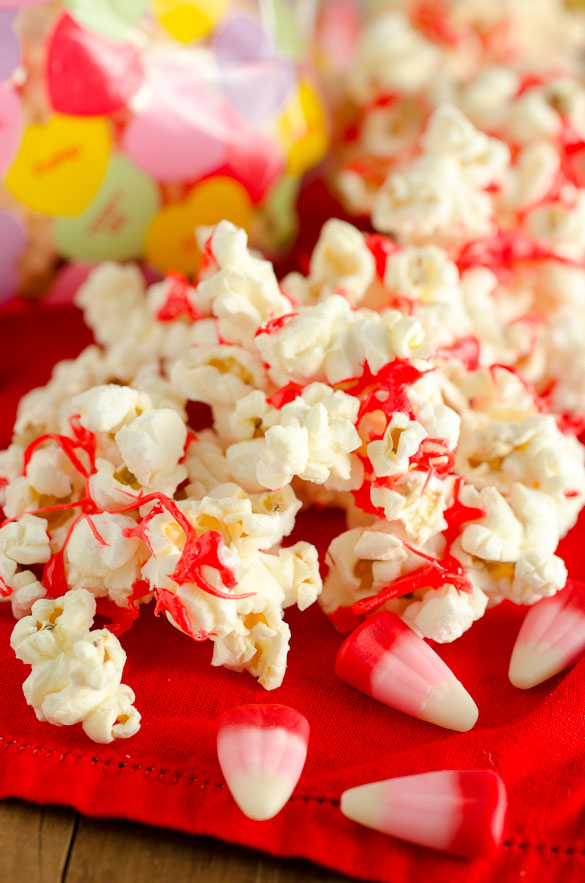 Valentine Caramel Corn Popcorn by SeededAtTheTable.com