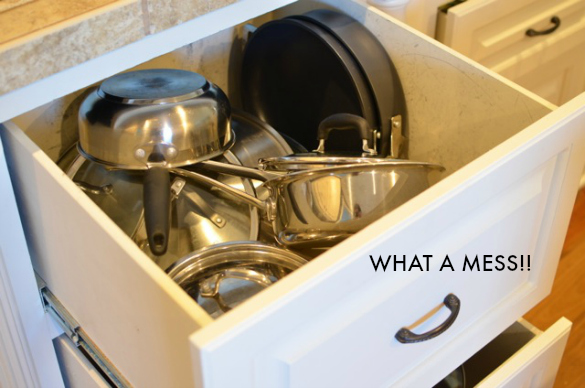 Messy pots and pans