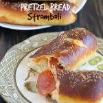 Pepperoni Pretzel Bread Stromboli by SeededAtTheTable.com @seededtable
