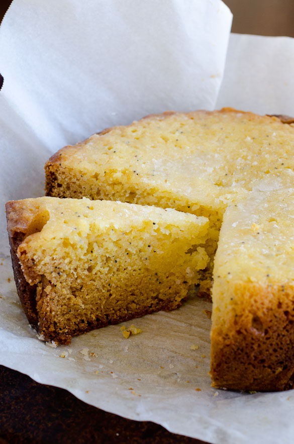 Slow Cooker Lemon Poppy Seed Cake by SeededAtTheTable.com