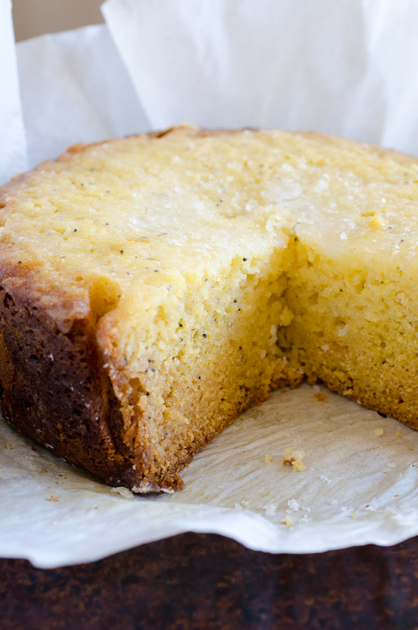 Slow Cooker Lemon Poppy Seed Cake by SeededAtTheTable.com