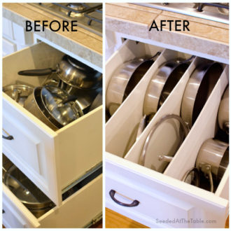 Spring Cleaning: DIY Organized Pots & Pans Drawer
