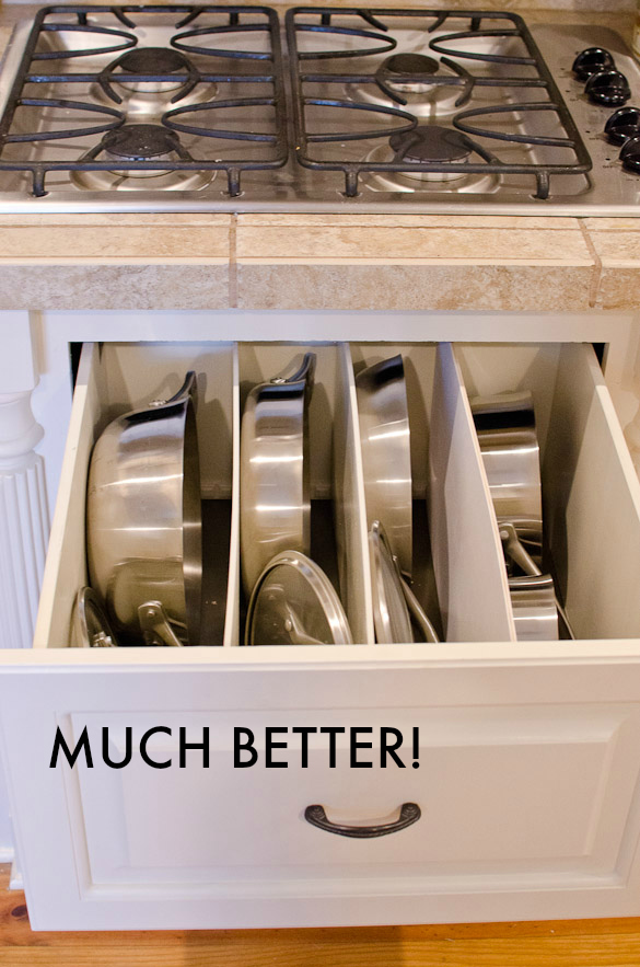 DIY Pots and Pans Drawer Organization by @seededtable