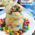 Coconut Oil Chocolate Chip Cookies with Mini M&M's