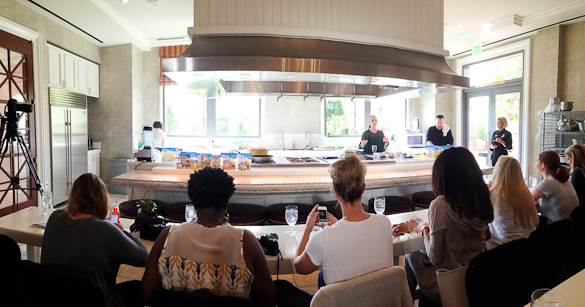 Dole Wellness Kitchen - Ally's Kitchen cooking demo via @SeededTable @dolefood @fswestlake #dolesummit