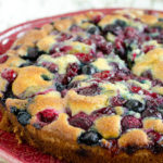 Mixed Berries Buttermilk Cake