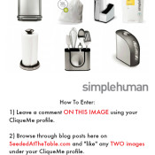 Win a new Kitchen Tools Makeover Set by SimpleHuman valued at $450! by @seededtable