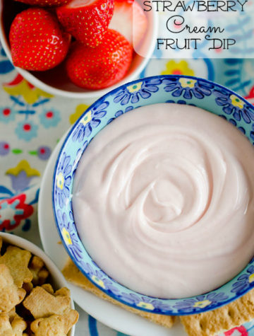 Strawberry Cream Fruit Dip by @SeededTable