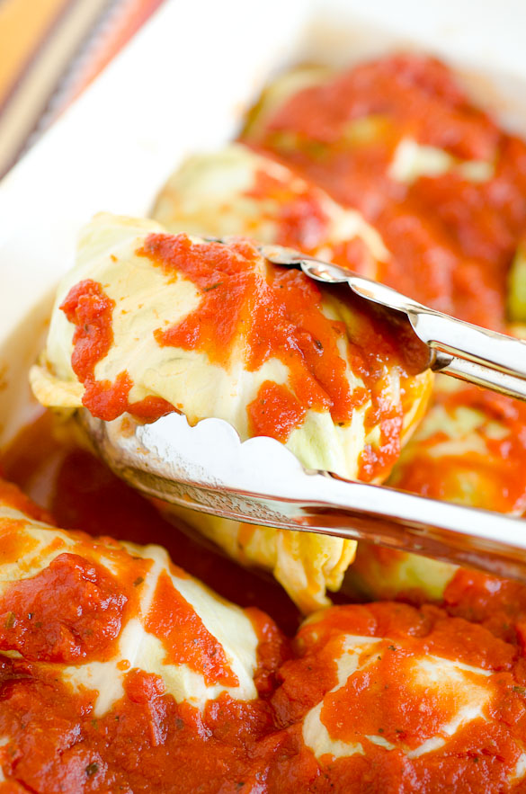 Turkey Florentine Stuffed Cabbage Rolls by @SeededTable