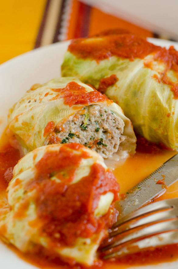 Turkey Florentine Stuffed Cabbage Rolls