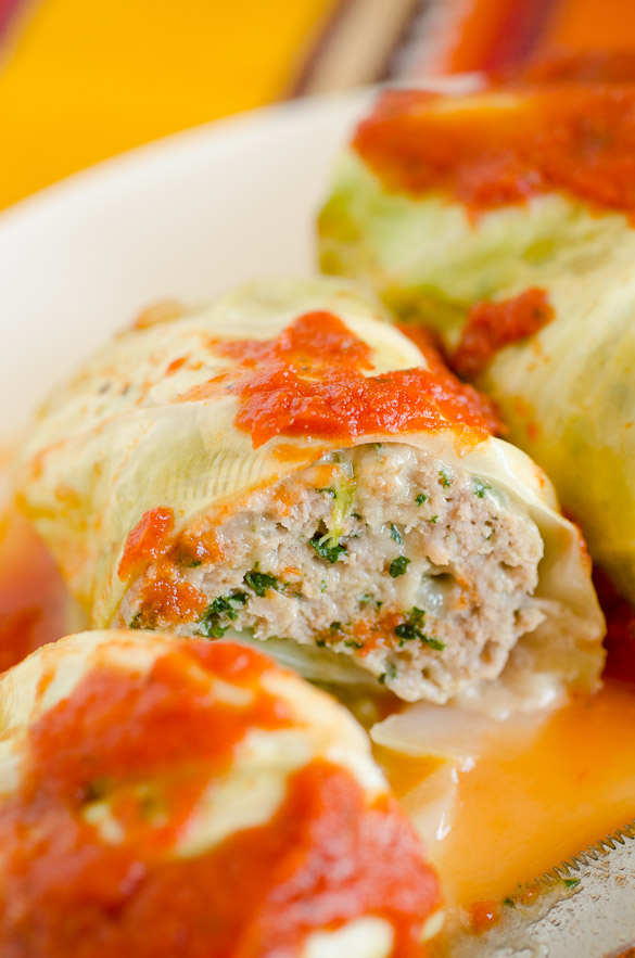 Turkey Florentine Stuffed Cabbage Rolls