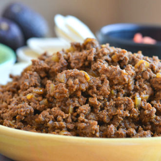 Taco Meat for a Crowd (or to freeze for later) by @SeededTable