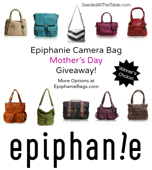Epiphanie Camera Bags Giveaway - YOUR PICK! by @SeededTable