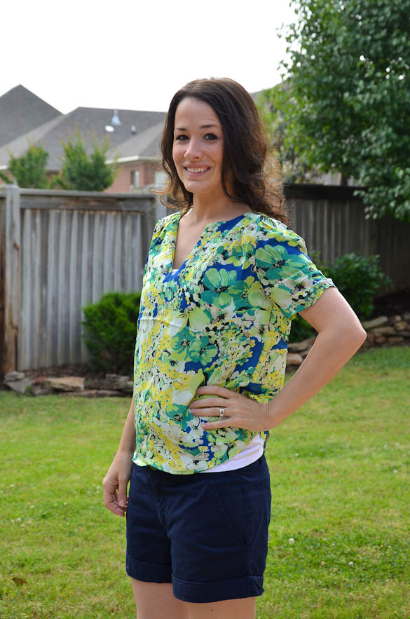 Golden Tote Pleated Printed Top Review by @SeededTable