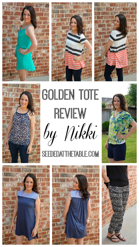 Golden Tote Review Collage