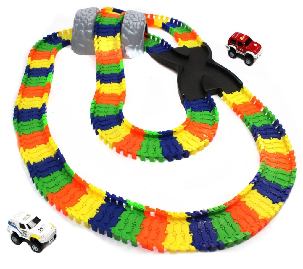 Kidoozie Build A Road X-Track - Endless fun for kids at only  that includes two battery operated trucks that drive the custom built tracks.