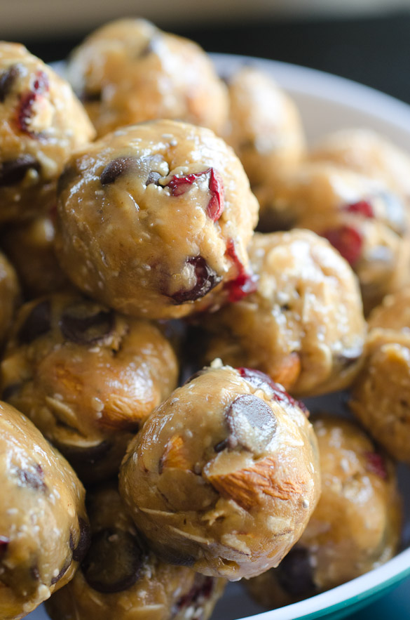 Chocolate Cranberry Almond Energy Balls