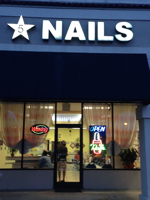 Five Star Nails - a great budget friendly and CLEAN friendly nail salon near Wrightsville Beach (Wilmington, NC)
