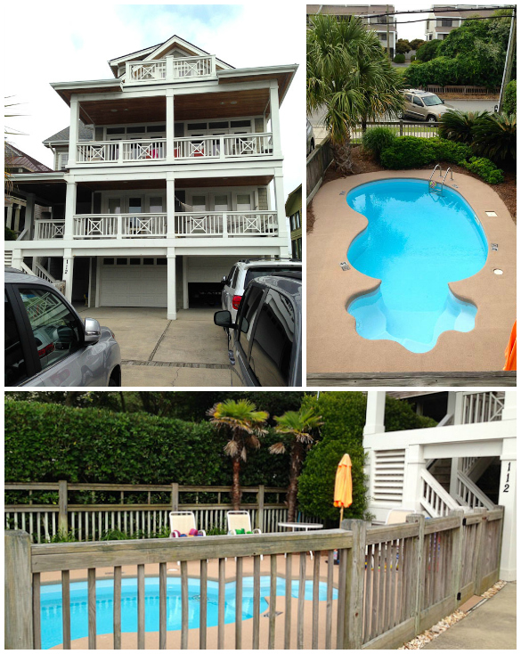 Beach House at Wrightsville Beach, NC with private pool.