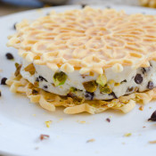Cannoli Ice Cream Sandwich