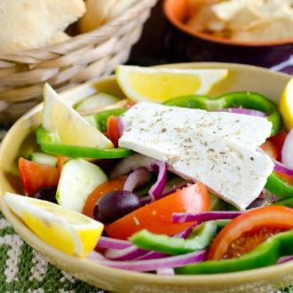 Greek Village Salad + Cookbook Giveaway