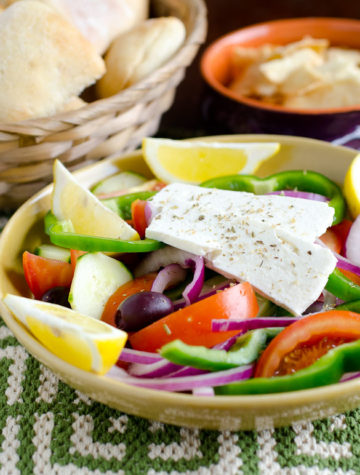 Greek Village Salad #recipe