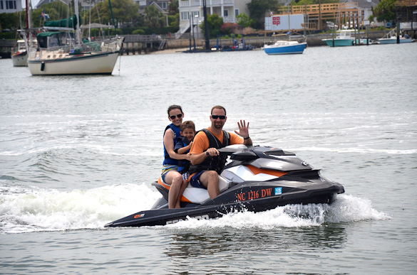 Jet skiing at Wrightsville Beach, NC
