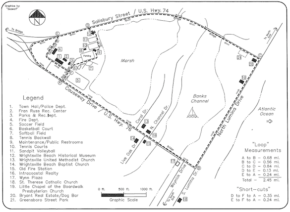 Run, bike or walk the John Nesbitt Loop at Wrightsville Beach, NC