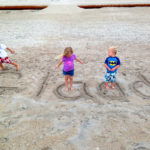 Family name in the sand at Wrightsville Beach, NC