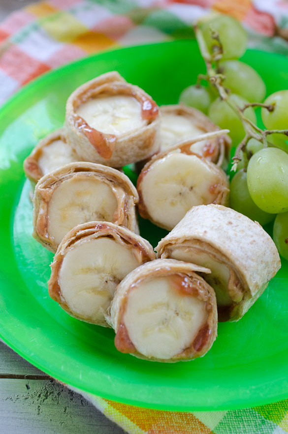 Peanut Butter and Jelly Banana Roll Ups