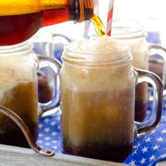 All-American Root Beer Float Brownie Sundaes