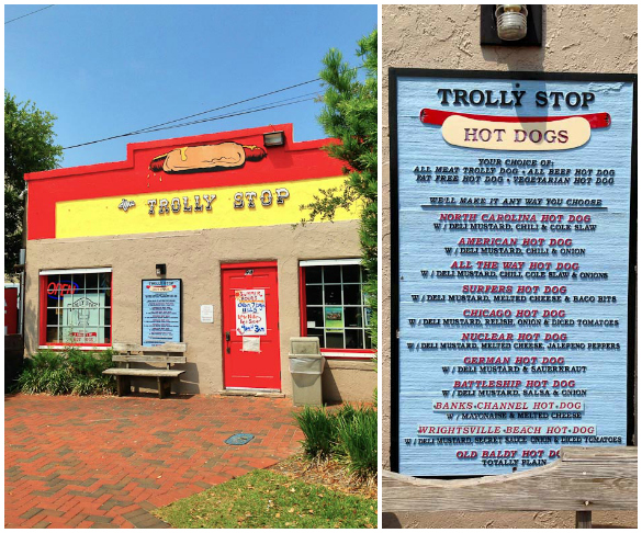 Trolly Stop Hot Dogs in Wrightsville Beach, NC