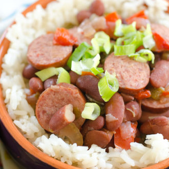 Slow Cooker Red Beans and Rice + $100 Gift Card Giveaway